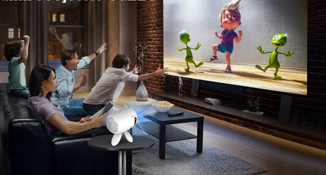 best projector under 100 - family entertainment