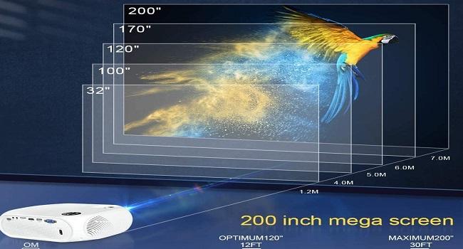 best projector under 100 - 200 inch mega screen