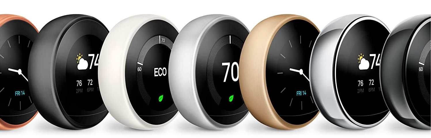 Bluetooth thermostat - 7 polished metal finishes